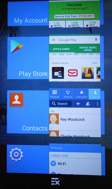 Smartphone newbies extensive guide to tracfone samsung galaxy core tapping on one of those tiles would bring that app back to full size if i pressed and held on a tile i would get choices remove from list or app info fandeluxe Image collections